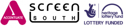 Accentuate, Screen South and Heritage Lottery Fund logos