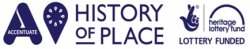 Accentuate, History of Place and Hertiage Lottery Fund logos