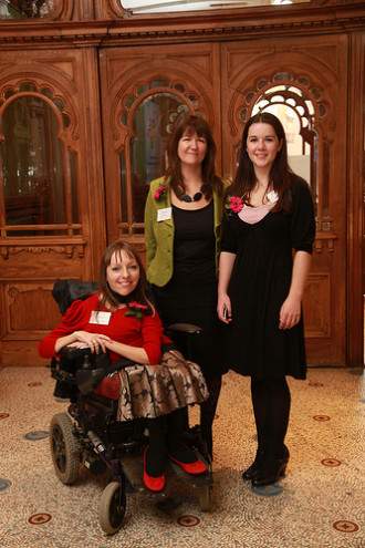 Esther and Emma and Joint Interim CEO of Screen South Sarah Dance