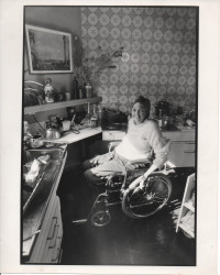 Maggie Davis in the kitchen at Grove Road